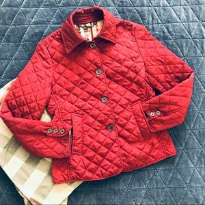 Burberry Women's Red Quilted Jacket